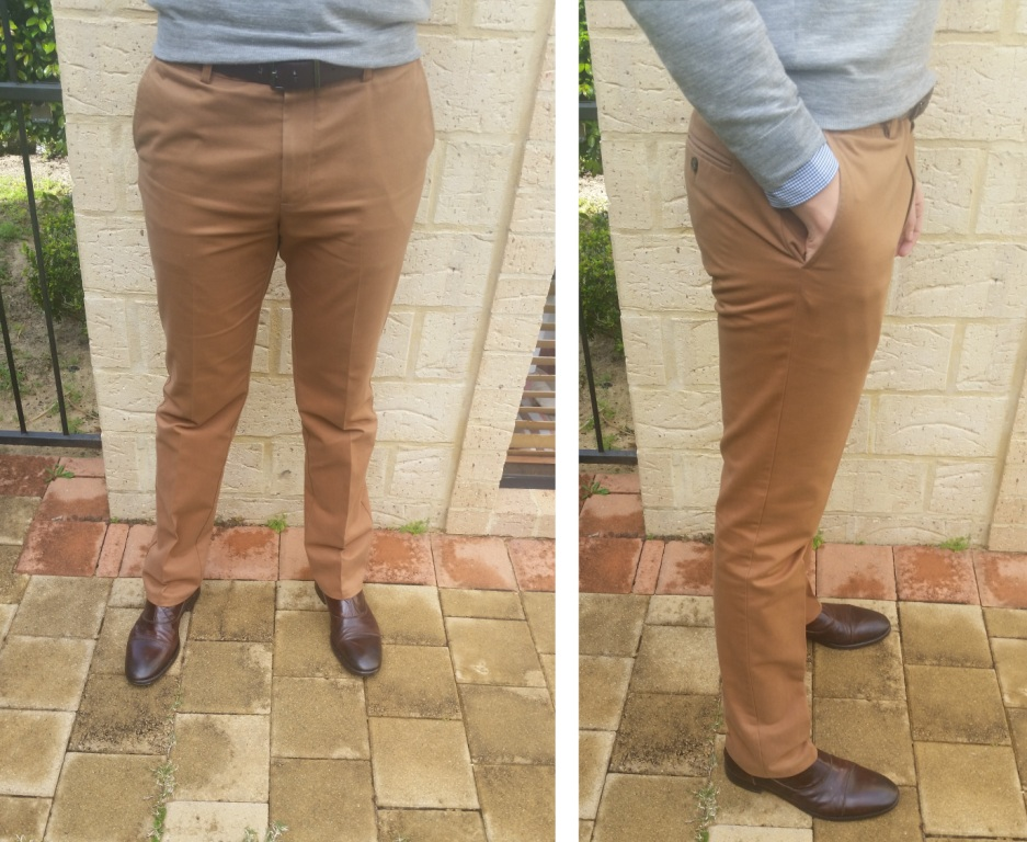 Chinos - front and side fit