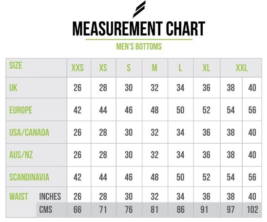 doyoueven - mens bottoms measurement chart